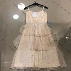 Gal Meets Glam Dresses - NWT Gal Meets Glam Florence Tiered Chiffon Dot-10